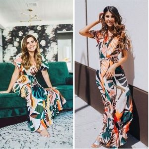Tropical Maxi Dress by Hutch for Anthropologie NWT
